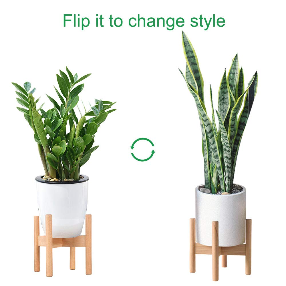 Big Pot /& Plant Not Included Homes Garden Plant Stand,XOOLOVER Mid Century Wood Flower Pot Holder Display Potted Plant Holder Rack Indoor /& Outdoor for Home Decor