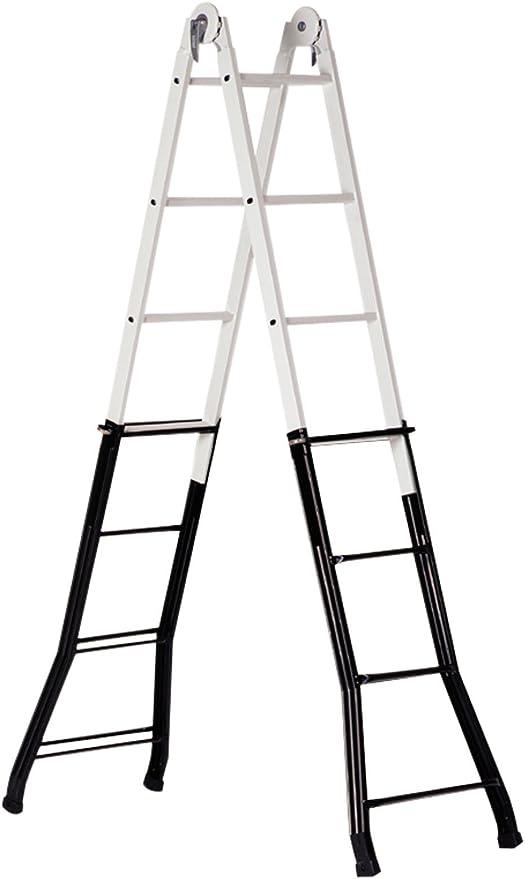 Altipesa - Escalera telescopica acero-aluminio 4+4 peldaños: Amazon.es: Bricolaje y herramientas