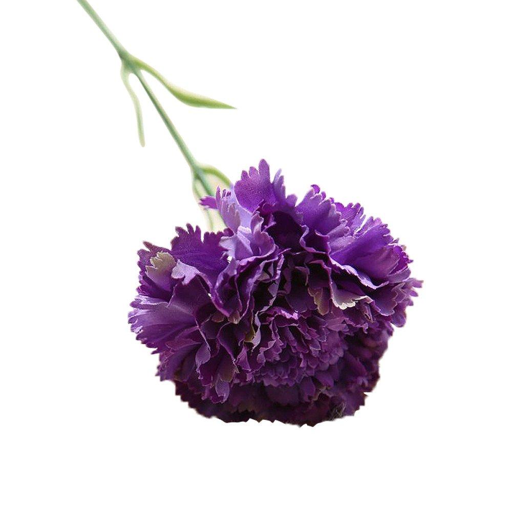 Bokeley 造花 フローラルカーネーションウェディングブーケ パーティー ホームデコレーション 27.5cm パープル BK-1 B07GR8H8SB パープル