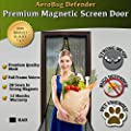 "Magnetic Screen Door, AeroBug Defender - Heavy Duty Mesh Screen with 28 Strong Magnets Sewn In & Full Frame Velcro. Keep Bugs Out, Let Fresh Air In. Screen Door Fits Door Opening Up To 34"" x 82"" MAX by Northstar Prestige LLC"