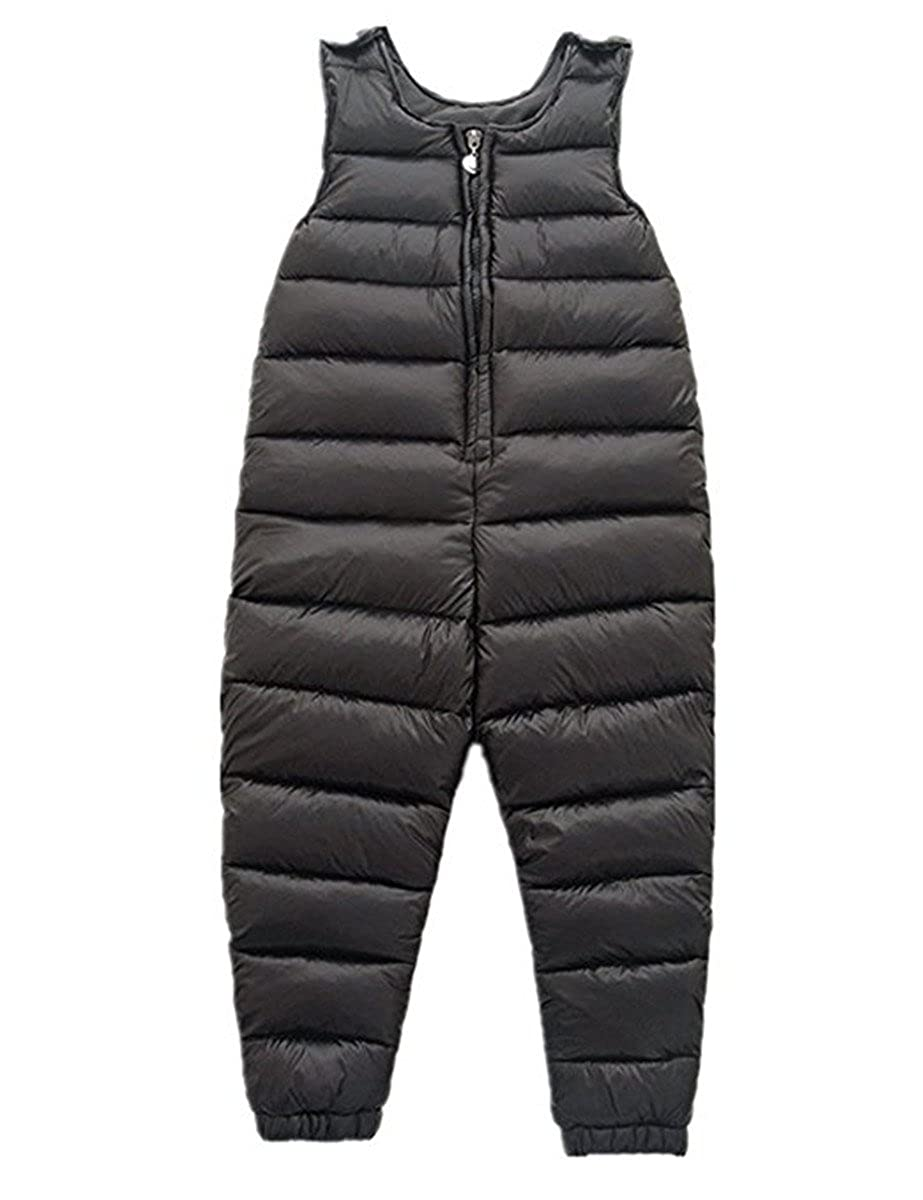Little Girls Boys One Piece Winter Puffer Sleeveless Jacket Jumpsuit Snowsuit Romper Vchirtsy041