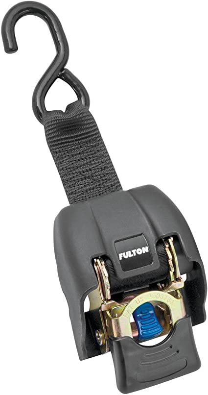 Fulton 2060266 2 x 43 Stainless Steel Transom Retractable Ratchet Tie Down