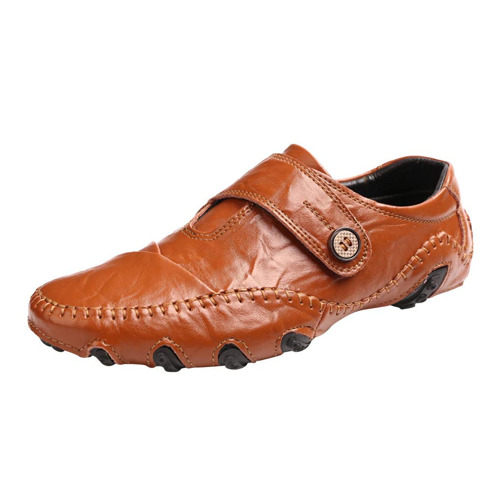 c713e4a0573ff Business Casual Shoes,SFE Men's Casual Non-Slip Wear-Resistant Soft-Faced  Flat with Leather Shoes