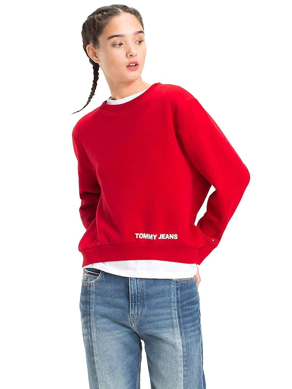 TALLA S. Tommy Jeans Sudadera Clean Logo Marino