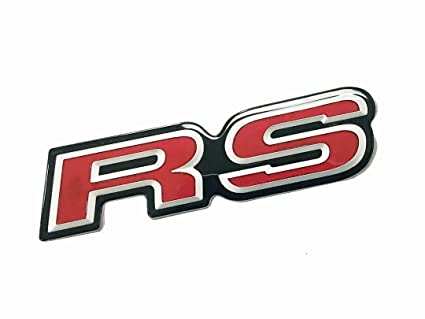 Premium 3D Car Auto Emblem Badge Decal Metal RS Logo Blue Fast Shipping !