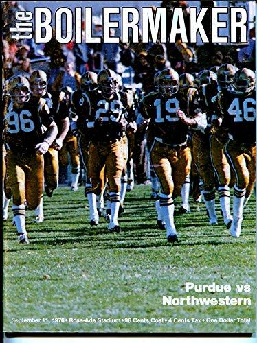 Purdue Boilermakers vs Northwestern Wildcats NCAA Football Program-9/11/1976-VF