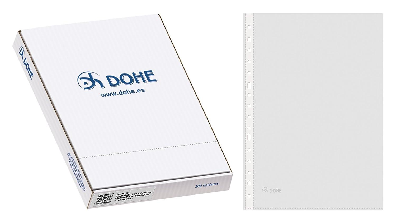 trasparenti Confezione di 100 buste multiforo Dohe 90585 formato A4
