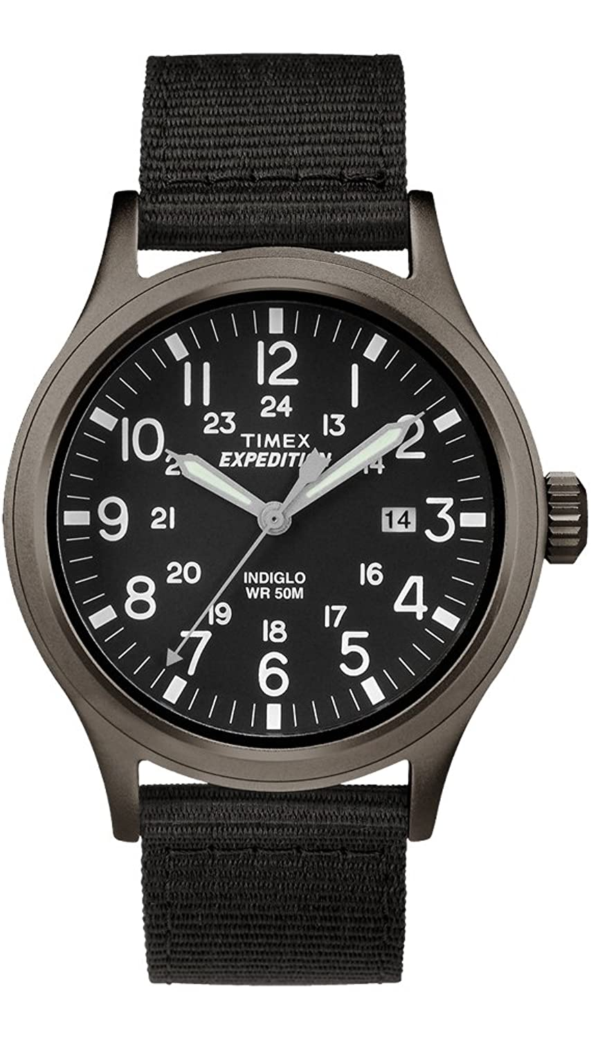 Timex tw4b06900 men 39 s expedition scout military indiglo slip thru band watch for Indiglo watches