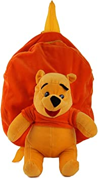 Pearl world Soft Plush Backpack Cartoon Toy, Childrens Gifts Boy Girl/Baby/ Decor School Bag for Kids (Yellow Bear)