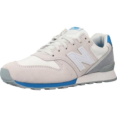 New Balance Zapatillas 996 Lifestyle Hueso/Azul/Gris: Amazon.es: Zapatos y complementos