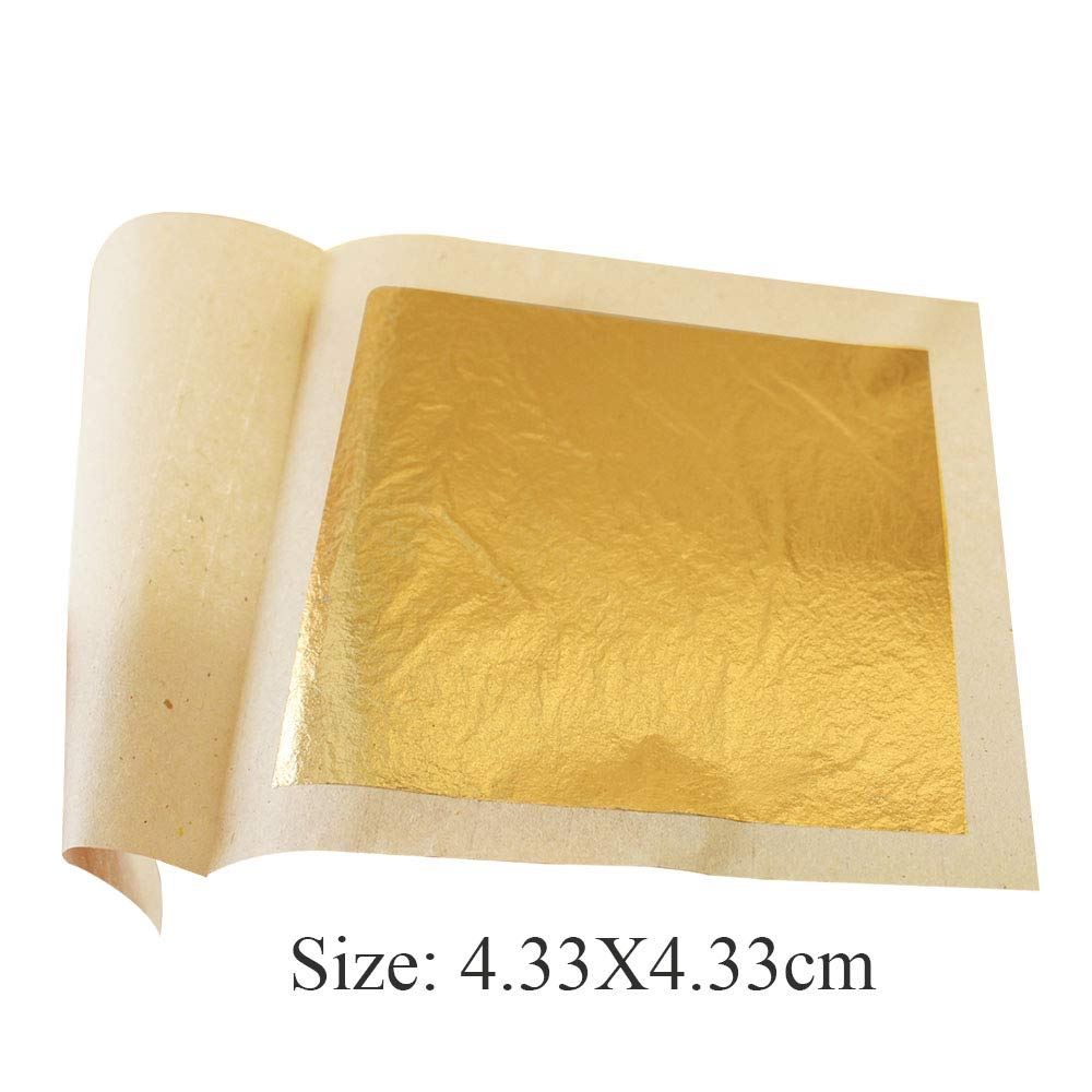 Edible Gold Leaf Sheets 4.33 x 4.33 cm 24K Pure Genuine Facial Edible Gold Leaf for Cooking, Cakes & Chocolates, Decoration, Health & Spa (1000 Sheets) by YongBo (Image #3)