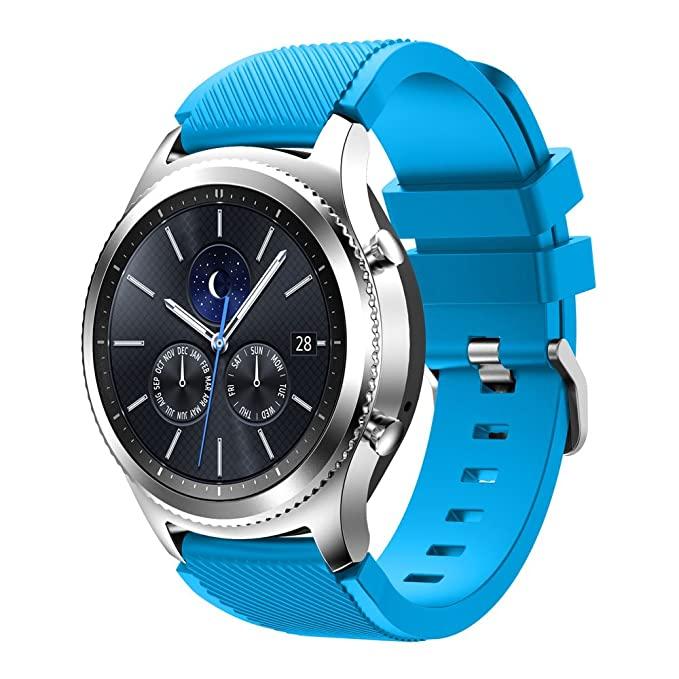 6 opinioni per Tabcover® Gear S3 Frontier Classic Smart Watch Cinturino, 22mm Soft Silicone
