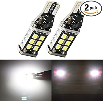 2x For High Lumen 921 T15 T10 W5W Tail Back Up Reverse LED Bulb Xenon White Bulb
