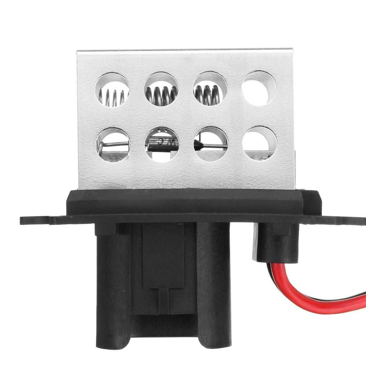 SODIAL 5Pins Car Blower Fan Motor Heater Resistor 7701034875 27100-00Qac For Renault Clio Mk1 /& Kangoo 7701034875