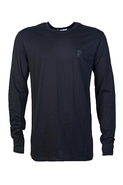 Versace - Camiseta - Cuello redondo - Manga corta - para hombre negro negro Large