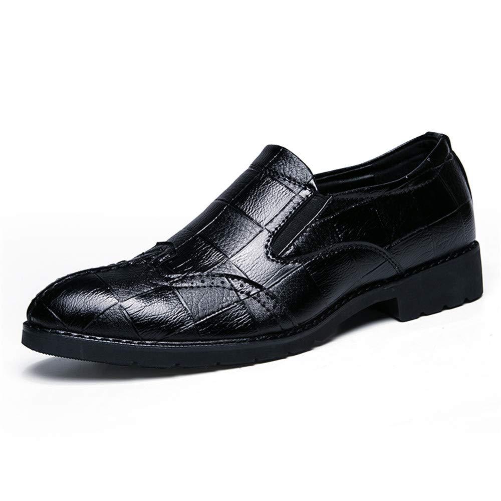 Moda Informal de Oxford Oxford Moda para Hombres Zapatos de Punta Suave y Transpirable de Bricolaje 43 EU Negro
