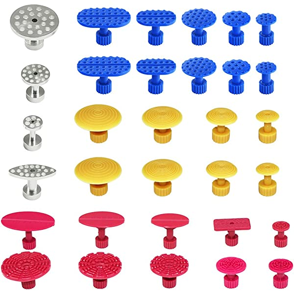 Keenso Red New Style Puller Tabs Dent Puller Tabs Dent Puller Tabs Car Dent Repair Paintless Dent Repair Kit Car Dent Suction Cup 10 pcs