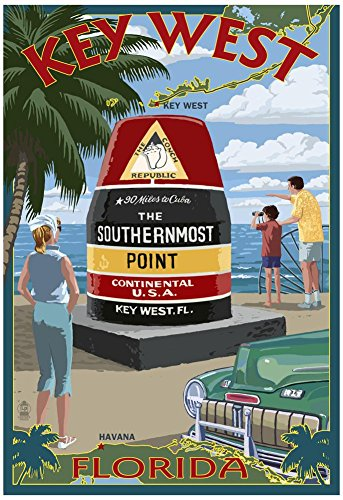Key West, Florida - Southernmost Point Poster