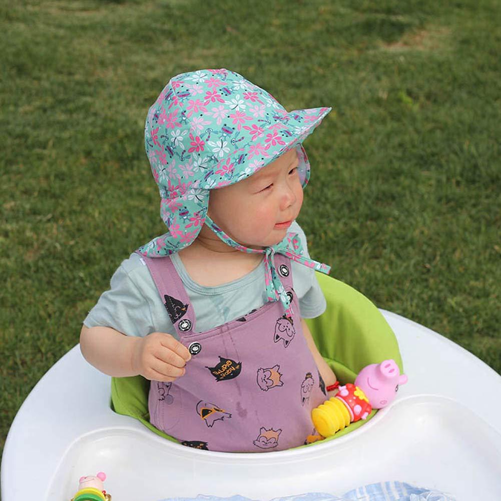 omufipw Boy Girl Children Summer Sun Hat UV Protection Child Kids Beach Travel Sea Fisherman Hat Outdoor