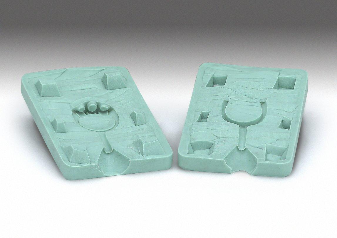 Castaldo QuickSil 2 Part Silicone Rubber Molding Putty - 100 Grams / 3 oz. kit (Firm & Flexible - Green) 840 F
