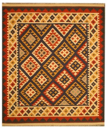 Eorc Wool (EORC DN2MU Handmade Wool Keysari Kilim Rug, 8.4 by 10-Feet,)