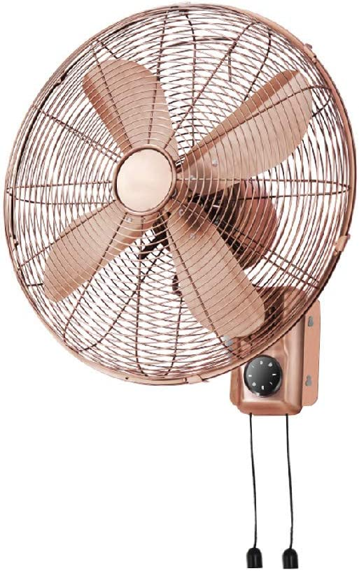 ALY® Ventilador De Pared Oscilante, Ventilador Retro De Metal De ...