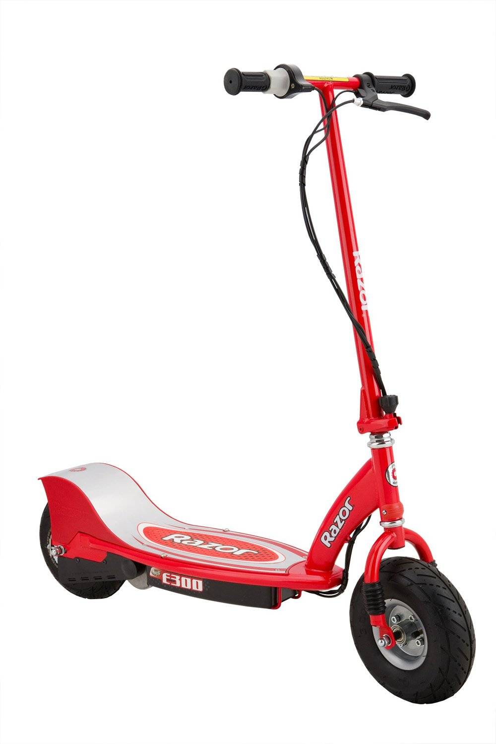Razor E300 24V Rechargeable Electric Motorized Red Scooter + V17 Youth Helmet by Razor (Image #2)