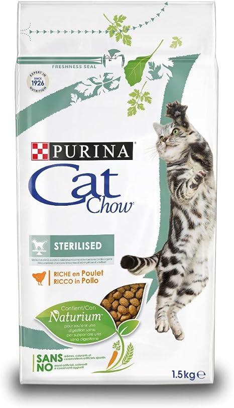 Purina Cat Chow Comida Seco para Gatos Adultos Esterilizados ...