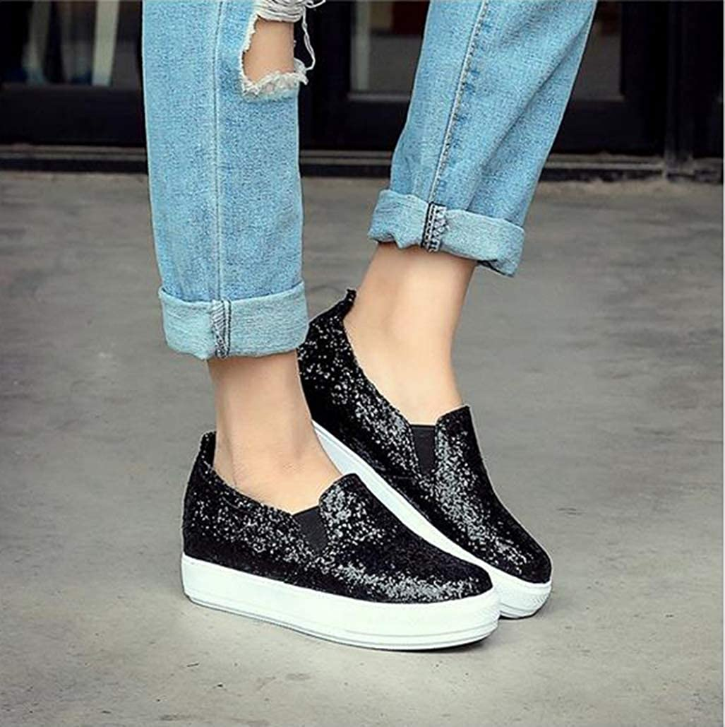 Women Loafers Fashion Ladies Casual Driving Shoes Solid Color Breathable PU Round Toe Slip On Flats Female Thick Bottom Sneakers