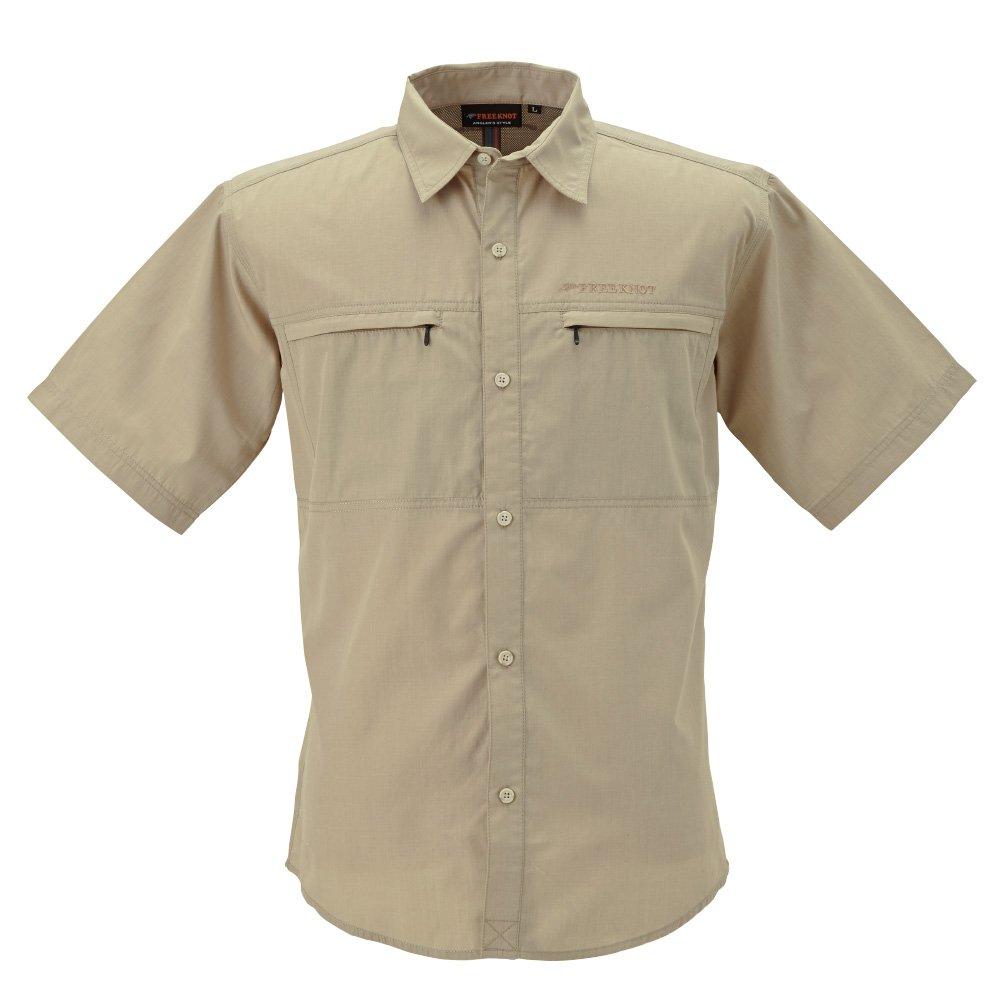 ハヤブサ フリーノット BOWBUWN ライトフィールドシャツ ショートスリーブ Y1432 B00WP36B9O LL|20(ベージュ) 20(ベージュ) LL