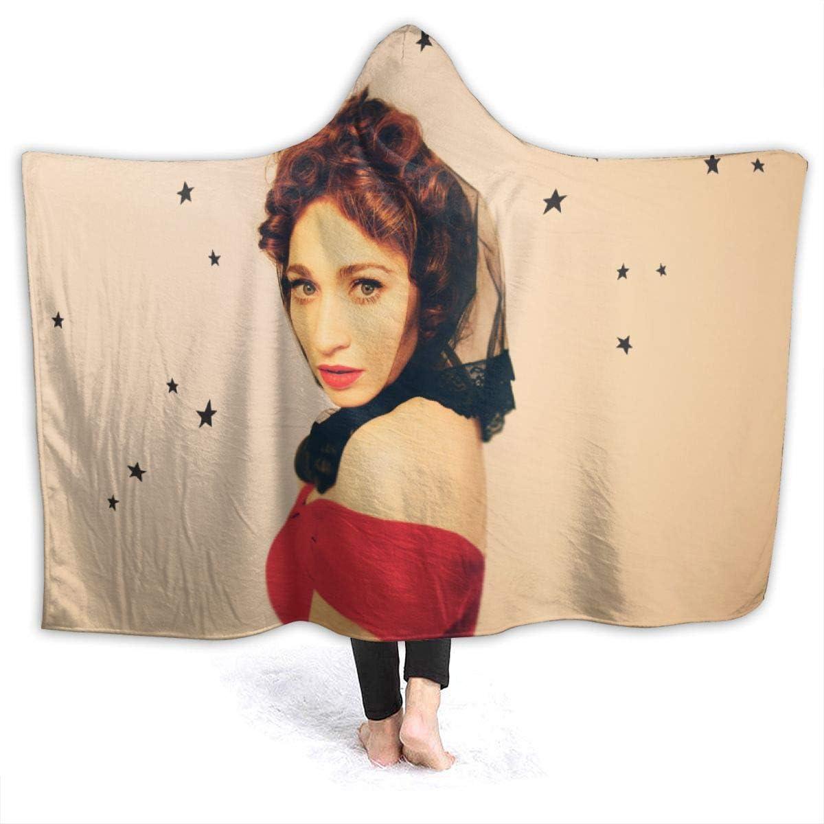 MHOLEBUKL Regina Spektor Hooded Throw Blanket Cobijas Franela Bedding Manta De Felpa Suave Aire Acondicionado De Oficina Mantas De Sofá Cama para Bolsa De Dormer