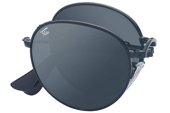 Amazon.com: Foldies - Gafas de sol redondas polarizadas y ...