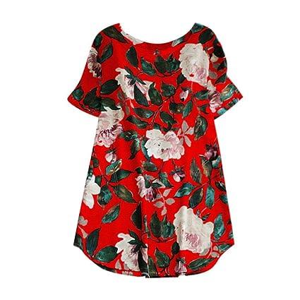Vestido Largo de algodón y Lino con Estampado Flojo by Ba Zha Hei, Vestido deImpresión