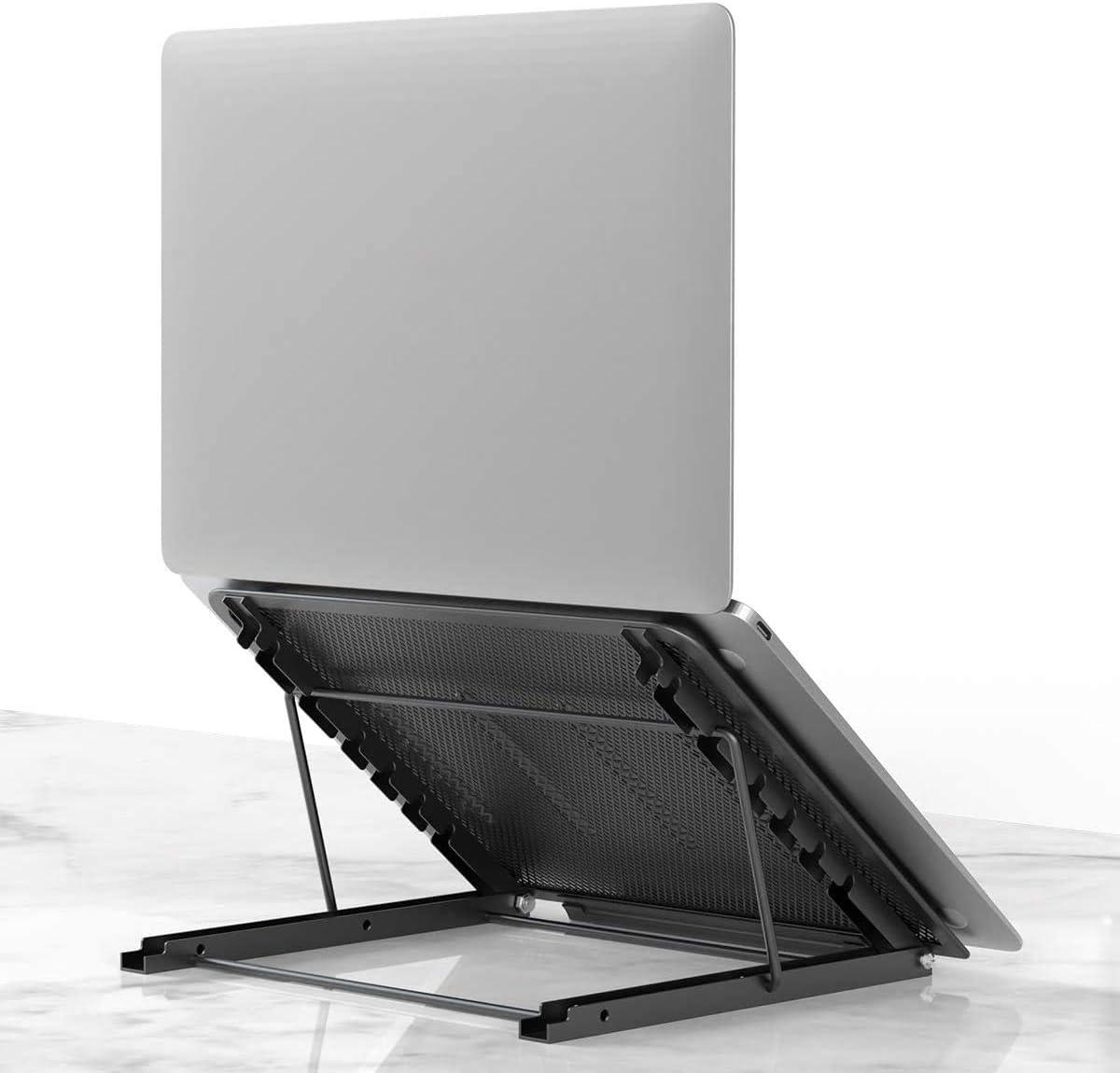 Laptop Stand for Desk - Adjustable Height Holder - Portable Folding Computer Desk - MacBook Pro Compatible