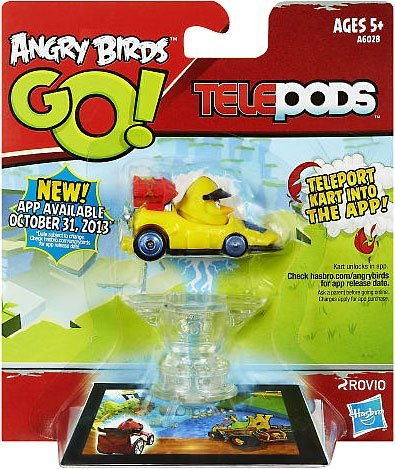 Hasbro Angry Birds GO! Telepods Kart Yellow Bird (Telepods Go Angry Birds)