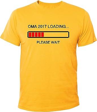 Mister Merchandise Herren Men T-Shirt Oma 2017 Loading Omi Großmutter Tee  Shirt Bedruckt Gelb
