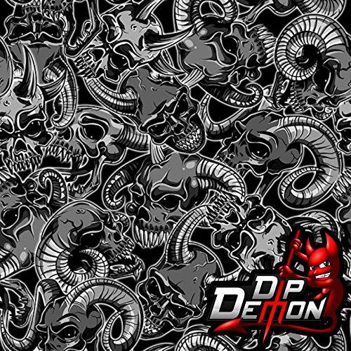 Evil Ram Skulls Hydrographic Water Transfer Film Hydro Dipping Dip Demon (Dip Ram)