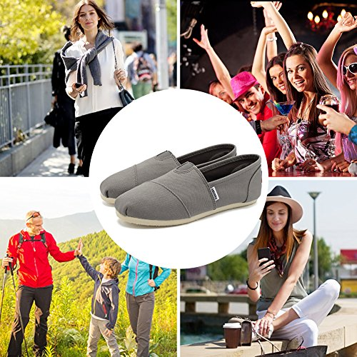 Fantiny Women's Classics Canvas Shoes Memory Foam Insole Flats Loafers Slip on CasualShoes by CIOR (Image #7)
