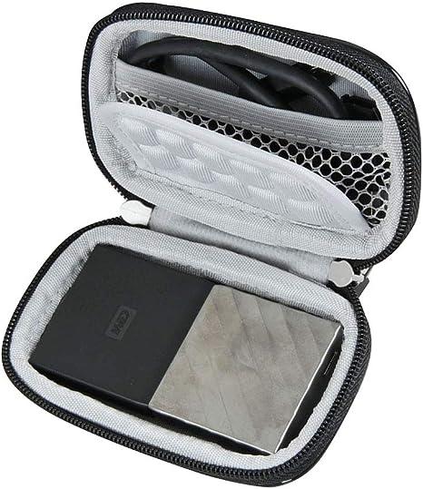 Hermitshell - Funda de Viaje para Disco Duro portátil WD My Passport SSD (WDBK3E5120PSL-WESN): Amazon.es: Informática