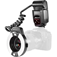 Neewer Macro Ring Flash Light with AF Assist Lamp for Canon E-TTL Cameras