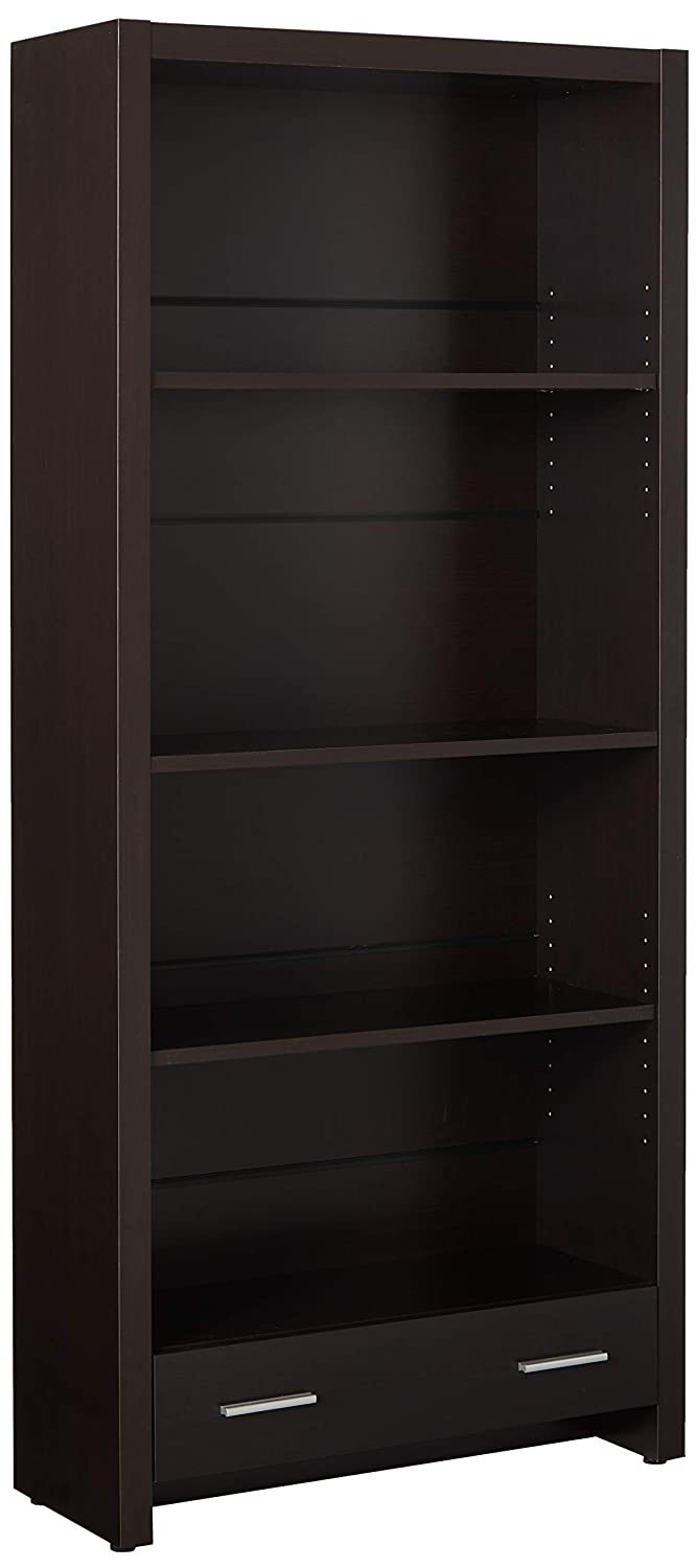 Coaster Home Furnishings Skylar 4-Shelf Bookcase with Storage Drawer Cappuccino