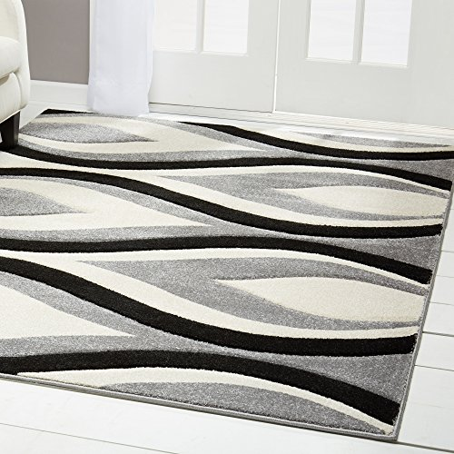 (Home Dynamix Sumatra Anise Area Rug | Contemporary Family Room Rug | Modern Abstract Pattern | Luxuriously Dense Pile and Softness | Gray 5'2