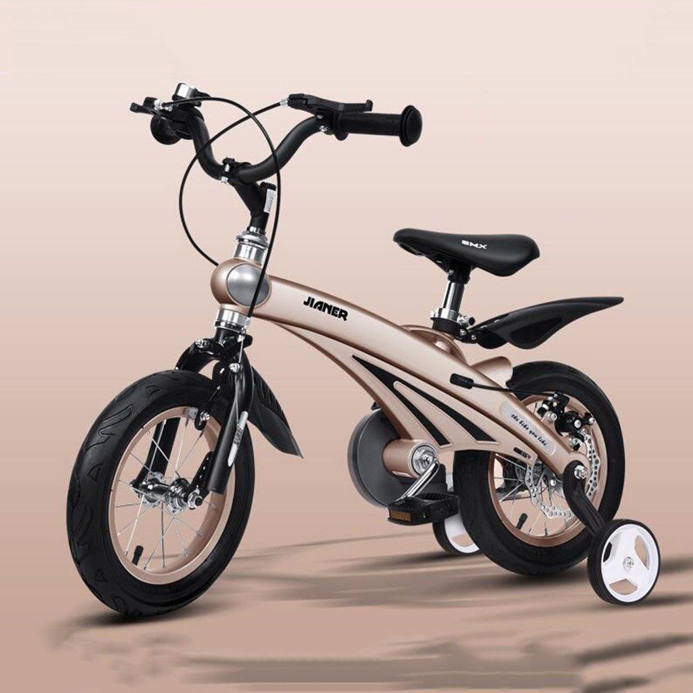 XQ 子供用自転車3歳男女用自転車2-4-6歳のベビーキャリッジ12/14/16インチ子供用サイクリング 子ども用自転車 ( 色 : シャンパンゴールド しゃんぱんご゜るど , サイズ さいず : 14inch ) B07CG2VNRFシャンパンゴールド しゃんぱんご゜るど 14inch