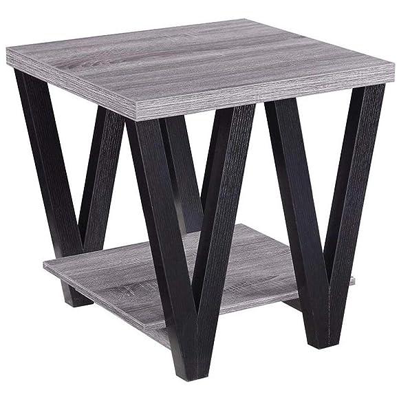Coaster Home Furnishings Angled Leg End Table, Black Grey