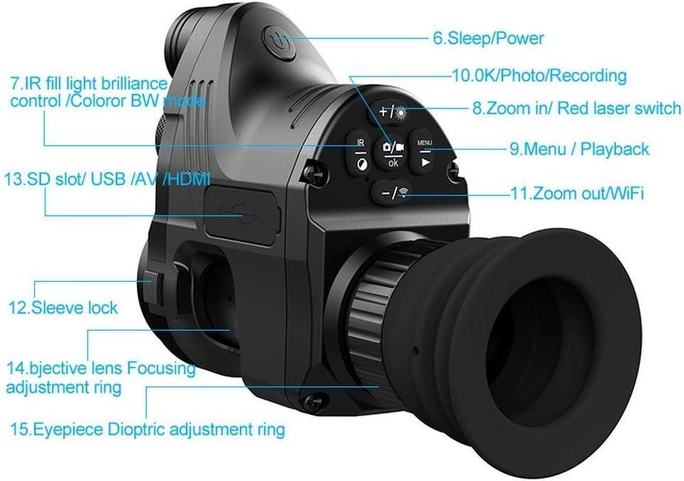 HGERFXC Nachtsicht Jagd Military Range Monocular Teleskope 200 mt 1080 P HD Digitalkamera Tag Nachtsicht Jagd WiFi IR Infrarot 4x-14x Zielfernrohr APP