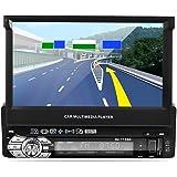 """LESHP Autoradio Lecteur MP5pour voiture avec écran tactile HD 7"""" Bluetooth GPS Navigation 1DIN Radio stéréo FM/AM Vidéo Port USB Commande au volant Caméra arrière 170° Vision nocturne"""