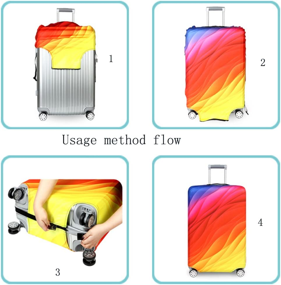 Luggage Protector Case Washable Travel Luggage Cover Cute Girl Suitcase Protector Fits 18-32 Inch