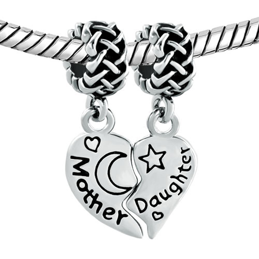 b5837125243a CharmSStory Mothers Day Gifts Mother Heart Daughter Son Dangle Bead Charms  For Bracelet