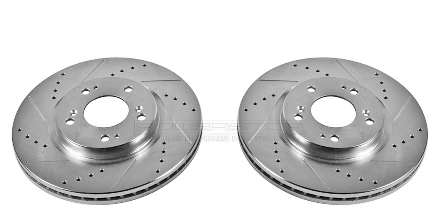 Power Stop JBR1101XPR Front Evolution Drilled /& Slotted Rotor Pair