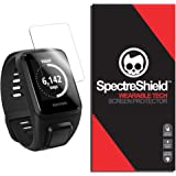 (6-PACK) TomTom Spark 3 Screen Protector by Spectre Shield (Military-Grade) Flexible Full Coverage Invisible HD Clear Anti-Bubble Anti-Scratch